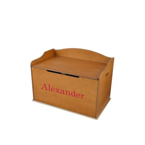 KidKraft Personalized Austin Toy Box in Honey