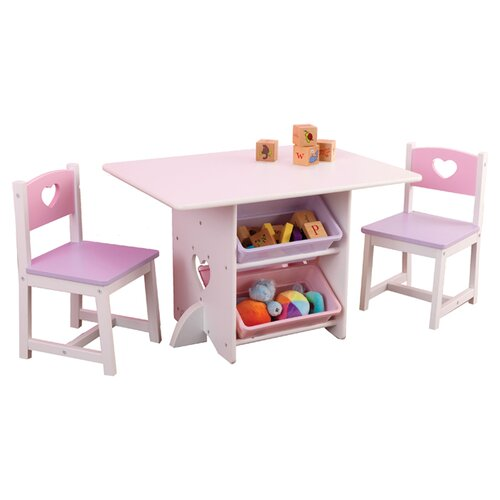 KidKraft Heart Kids' 7 Piece Table and Chair Set