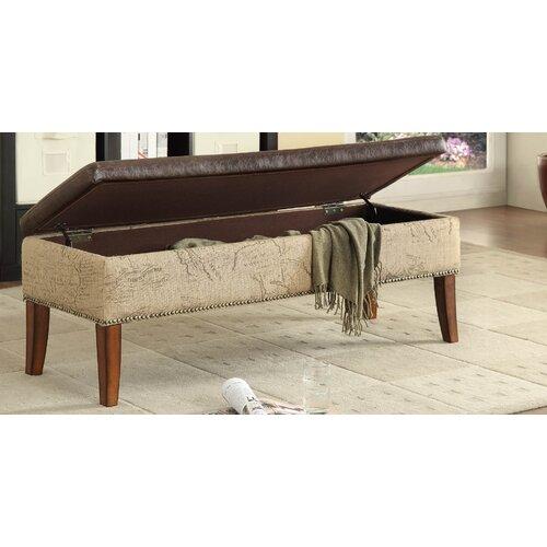 Tanzania Leather Storage Bench