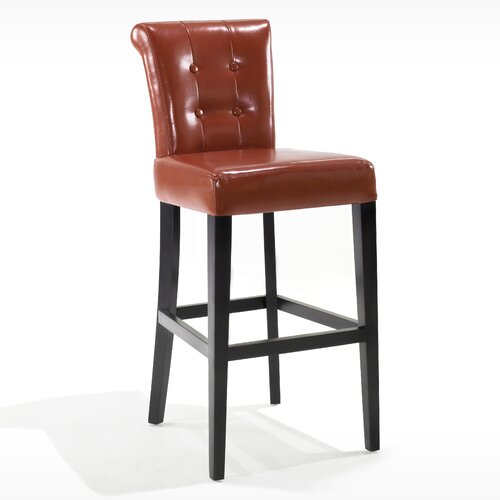 "Armen Living Urbanity Sangria 30"" Bar Stool with Cushion"
