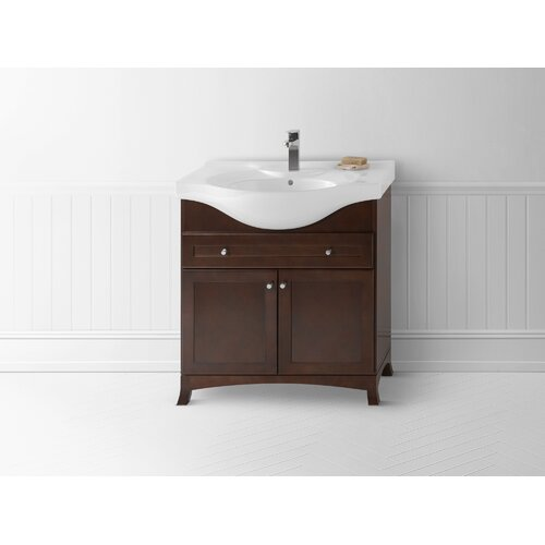 Euro Style Vanity With Overhang Sink