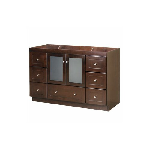 "Ronbow Modular 48"" Shaker Bathroom Vanity Base with Glass Door"