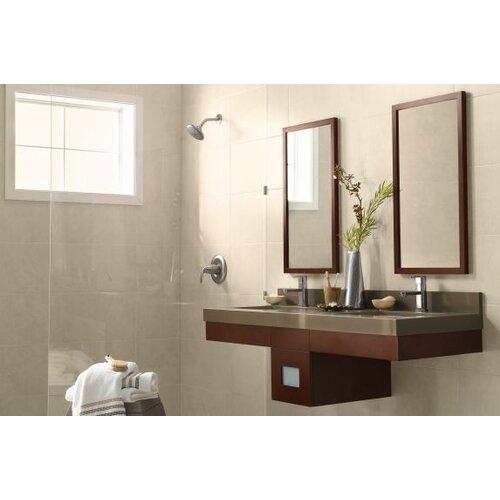 Contemporary Solid Wood Framed Bathroom Mirror In Dark Cherry Wayfair