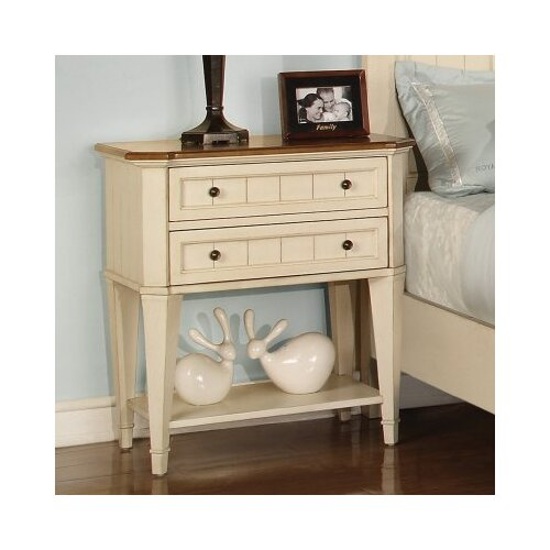 Wynwood Furniture Garden Walk 2 Drawer Nightstand