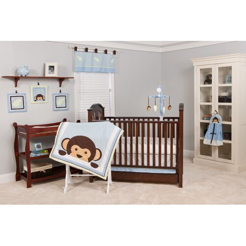 Maddox Monkey 10 Piece Crib Bedding Set