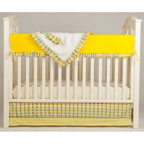Simply Argyle 4 Piece Crib Bedding Set