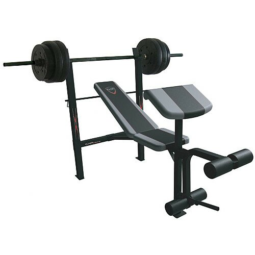 Cap Barbell Standard Combo Weight Bench with 80 lbs Weight Set