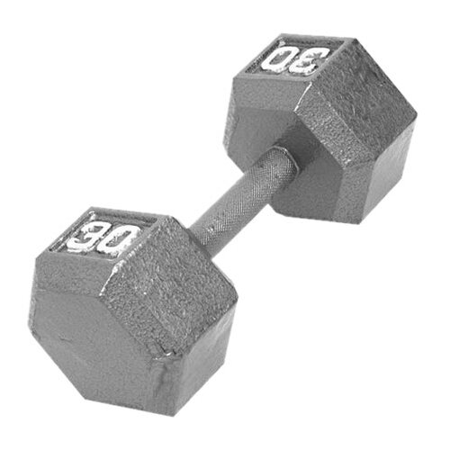 Cap Barbell Grey Solid Hex Dumbbell