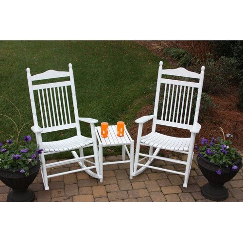 Dixie seating 3 piece adult rocking chair table set for Rocking bed for adults