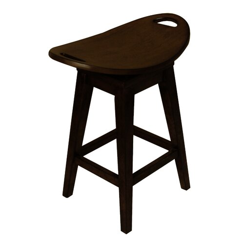 "Carolina Accents Thoroughbred 26.75"" Backless Swivel Counter Stool"