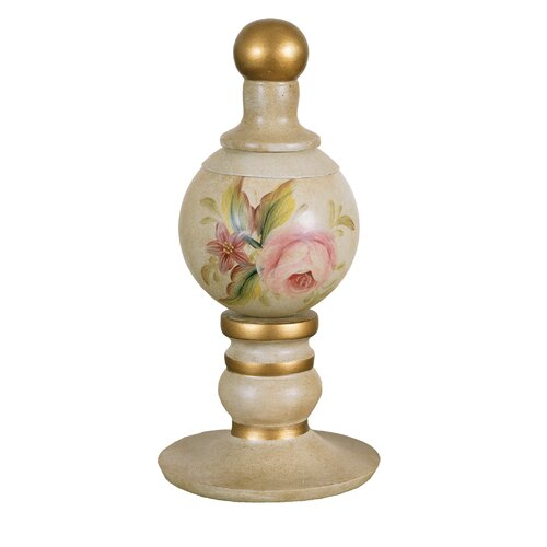 Mario Industries Floral Finial Decorative Urn