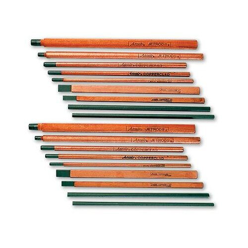 "Arcair 35-033-003 5/8"" X 3/16"" X 12"" DC Copperclad Flat Arc Gouging Electrode (50 Per Box)"