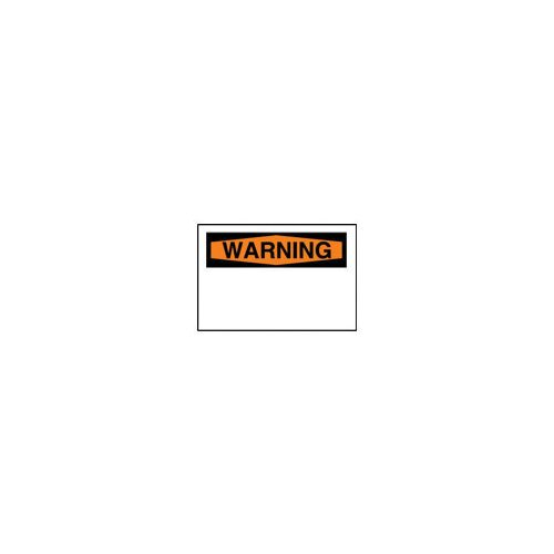 "Brady X 10"" Laser Labels With Warning Header"