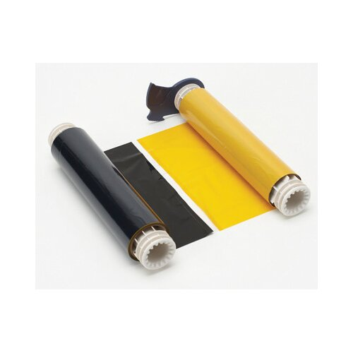 "Brady X 200' Two-Color Black/Yellow 15"" Long Paneled Industrial Grade Ribbon For PowerMark® Sign And Label Maker"