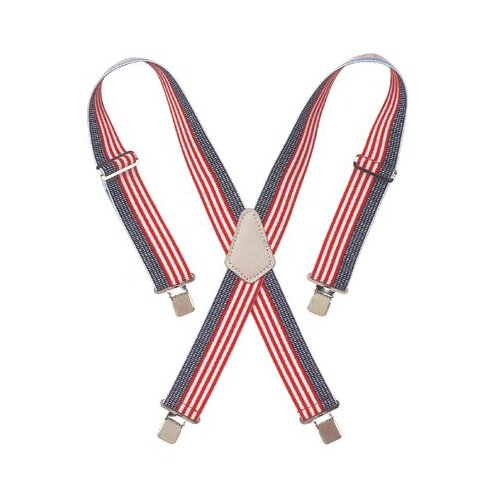 "CLC Custom Leather Craft Suspenders - red white & blue 2"" widework suspenders"