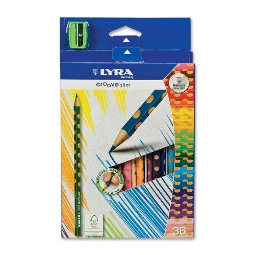 Dixon Ticonderoga Company Slim Colored Pencils, Slim, 3.3mm, Non-Toxic, 36/ST, Ast