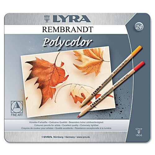 Dixon Ticonderoga Company Lyra Artist Colored Woodcase Pencils, 24 Per Pack
