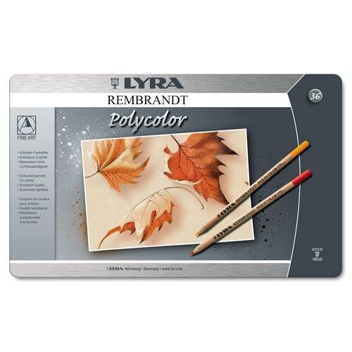 Dixon Ticonderoga Company Lyra Artist Colored Woodcase Pencils, 36 Per Pack