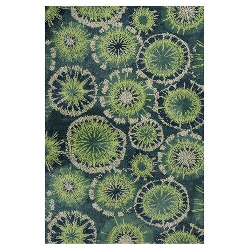 KAS Oriental Rugs Allure Green Starburst Rug