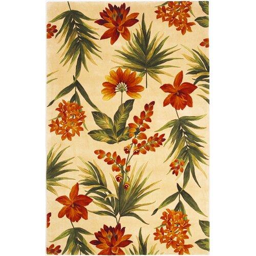 Catalina Ivory Tropical Flora Rug