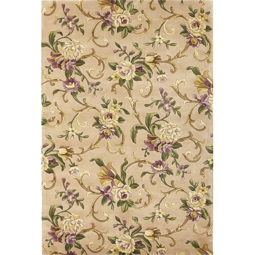 Emerald Beige Sofia Scroll Rug