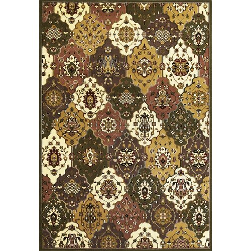 KAS Oriental Rugs Cambridge Green/Plum Panel Rug