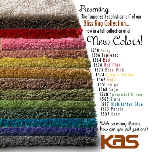 KAS Oriental Rugs Bliss Ivory Heather Rug