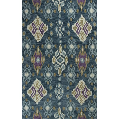 Anise Blue Allover Ikat Rug