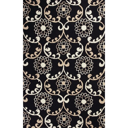 Sonesta Black Silo Scroll Rug
