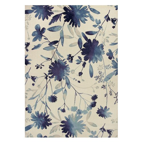 Reflections Blue Watercolors Rug