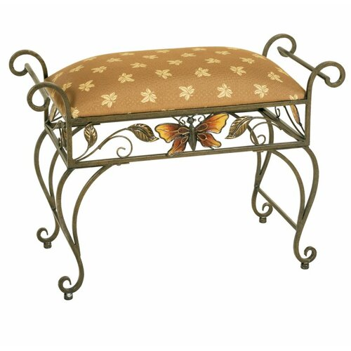 Passport Furniture Butterfly Silver Antique Bench