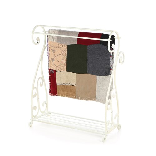 Passport Furniture Whitewash Quilt Rack