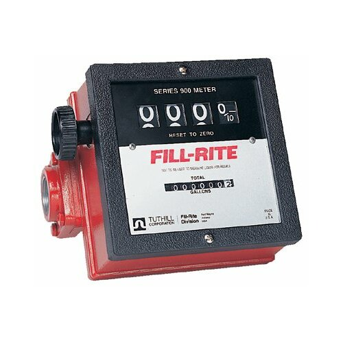 "Fill-Rite Mechanical Flow Meters - series 900 basic meter w/1"" inlet & outlet 40gp"