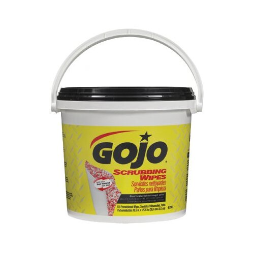 Gojo Scrubbing Wipes - gojo scrubbing wipes 170count bucket