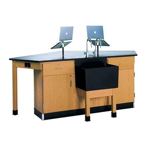 Diversified Woodcrafts Labview 4 Student Workstation With Door/ Drawer