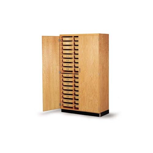 """Diversified Woodcrafts 84"""" H x 48"""" W x 22"""" D Tote Tray Storage Cabinet"""