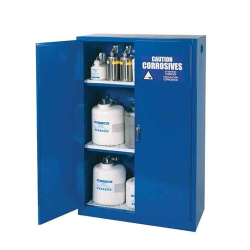 """Diversified Woodcrafts 65"""" H x 43"""" W x 18"""" D Acid and Corrosive Storage Cabinet"""