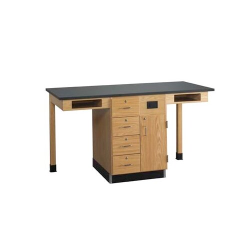 Diversified Woodcrafts Two Station Service Center Workstation