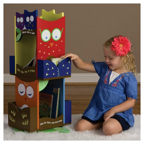 "Levels of Discovery Owls Revolving 30"" Bookcase"
