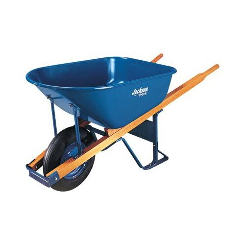 Jackson Professional Tools Jackson® Contractors Wheelbarrows - wheelbarrow 6 cu ft steel flat free wheel