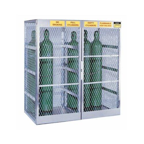 Justrite Aluminum Cylinder Lockers - vertical 10-20 cylinderlocker