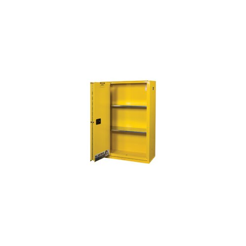 Justrite 45 Gallon Flame EX Enhanced Sliding Door Safety Cabinet