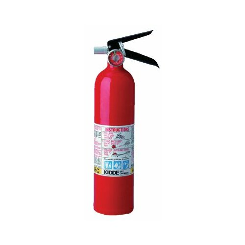 Kidde ProLine™ Multi-Purpose Dry Chemical Fire Extinguishers - ABC Type - 2.6lb. tri-class dry chemical fire extinguisher
