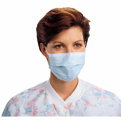 Kimberly-Clark Procedure Face Masks, Blue, 50 per Carton