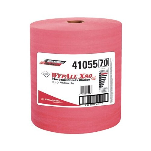 Kimberly-Clark WypAll® X80 Wipers - 475 Wipes per Roll