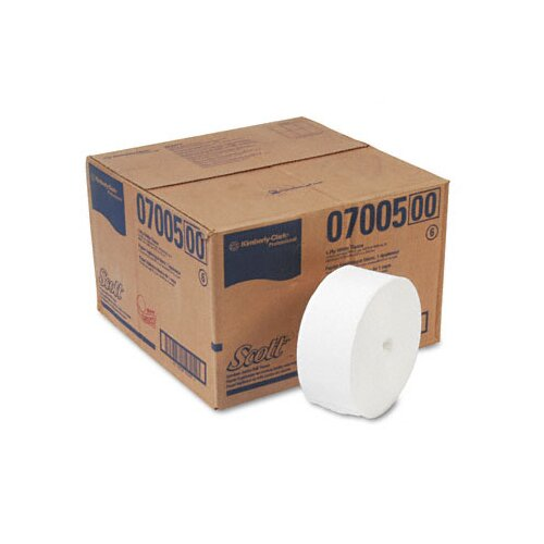Kimberly-Clark Professional* Scott Coreless Jrt Jr. Rolls, 1-Ply, 2300 Ft, 12 Rolls/Carton