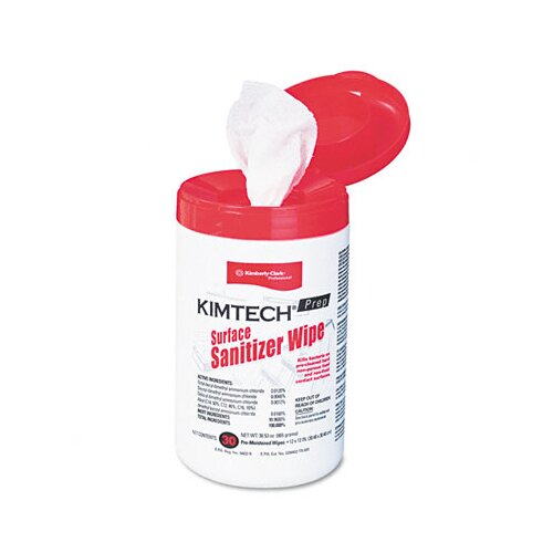 Kimberly-Clark Professional* Kimtech Prep Surface Sanitizer Wipe, 30/Canister
