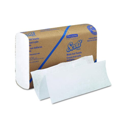 Kimberly-Clark Scott Multifold Paper Towels in White