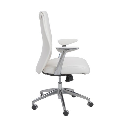 Crosby Low-Back Leatherette Office Chair with Arms