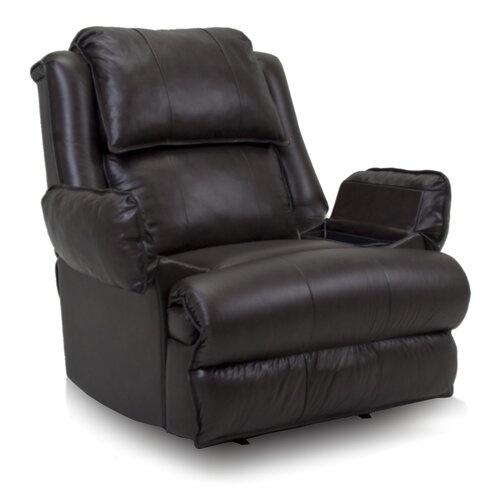 Franklin Douglas Leather Match Chaise Recliner